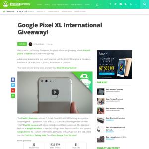 Win a Google Pixel XL!
