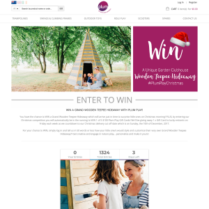Win A Grand Wooden Teepee