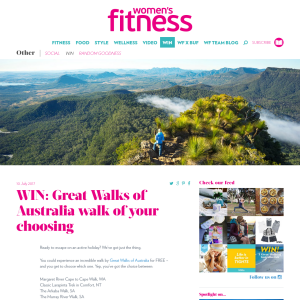 Win a 'Great Walks of Australia' Walk of Choice for 2