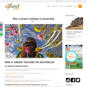 Win a green holiday in Australia!