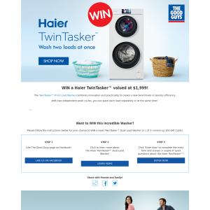 Win a Haier TwinTasker Washer
