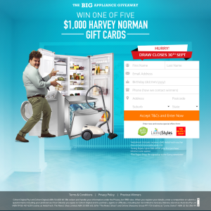 Win a Harvey Norman Gift Card