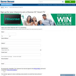 Win a Hisense 55