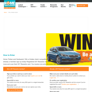 Win a Holden Astra