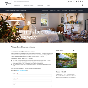 Win a Holiday Package in Trentham for 2