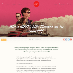Win a HOYTS LUX Cinema all to yourself
