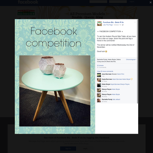 Win a Hudson Round Side Table!