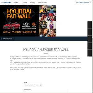 Win a Hyundai Elantra SR!