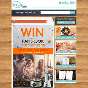 Win a Kambrook Soup Maker or Slow Cooker
