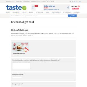 Taste Com Au Win A Kitchenaid Gift Card Competitions Com Au