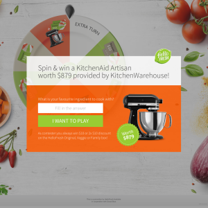 Win a KitchenAid Mixer worth $879!