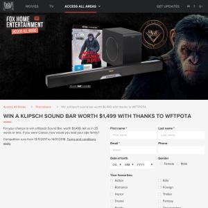 Win A Klipsch Sound Bar Worth $1,499