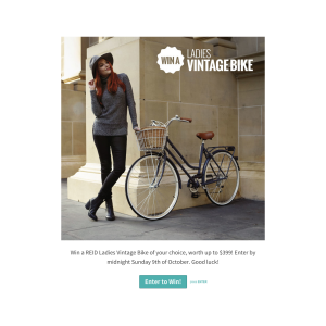 Win a ladies vintage bike!