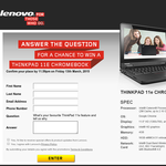 Win a Lenovo Thinkpad 11e Chromebook!