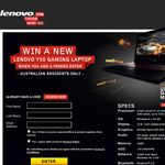 Win a Lenovo Y50 gaming laptop for you & a friend!