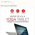 Win a Lenovo 'Yoga' tablet!