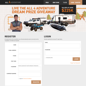 Win a Live the All 4 Adventure Dream Package