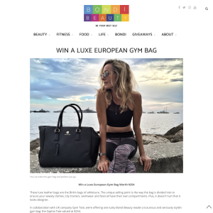 Win a Luxe European Gym Bag