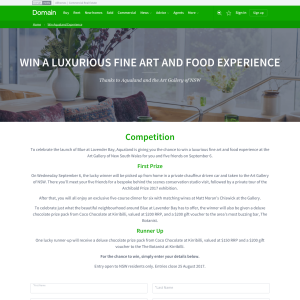Win a luxurious Fine Art and Food experience