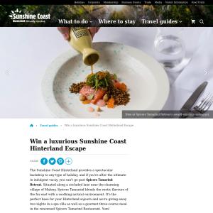 Win a luxurious Sunshine Coast Hinterland Escape