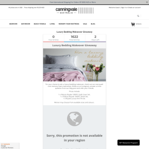 Win a luxury bedding makeover
