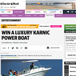 Win a luxury Carnic Power Boat!