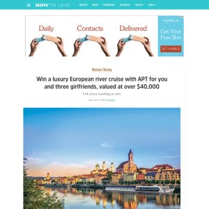 Win a luxury European river cruise with APT for you & 3 girlfriends, valued at over $40,000!