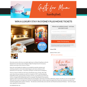 Win a luxury stay in Sydney + movie tickets! (Flights NOT Included)