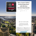 Win a luxury Sydney Festival Experience with Meriton Serviced Apartments!