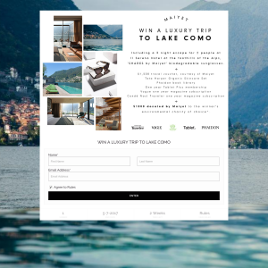 Win a luxury trip to Lake Como!