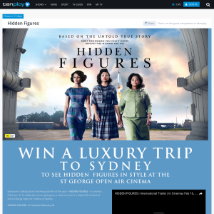 Win a luxury trip to Sydney to see 'Hidden Figures' in style at the St George Open Air Cinema!