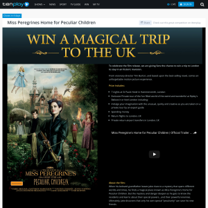 Win a magical trip to the UK!