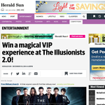Win a magical VIP experience at The Illusionists 2.0!
