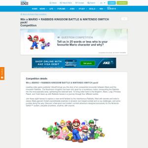 Win a Mario + Rabbids Kingdom Battle & Nintendo Switch pack