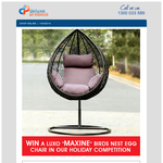 Win a 'Maxine' Birds Nest Egg Chair