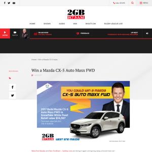 Win a Mazda CX-5 Auto Maxx FWD