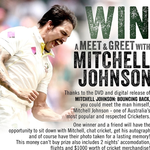 Win a meet & greet with Mitchell Johnson!