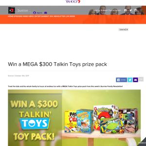 Win a MEGA $300 Talkin Toys prize pack