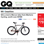 Win a men's Mercer bike from Martone Cycling, worth over $1,199!