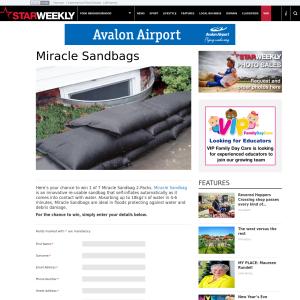 Win a Miracle Sandbag