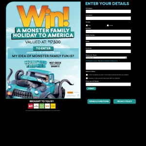 Win a monster family holiday to America!