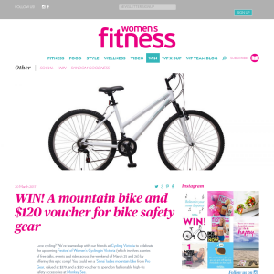 Win a mountain bike + a $120 voucher for safety gear!