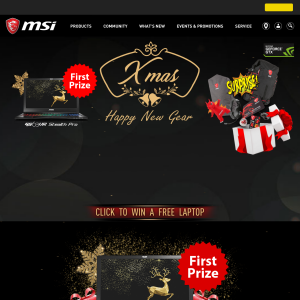 Win a MSI Ultra Slim Gaming Laptop or 1 of 3 MSI Surprise Gift Packs