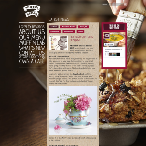 Win a Muffin break, teasets or Massage vouchers
