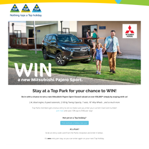 Win a new Mitsubishi Pajero Sport