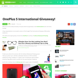 Win a new OnePlus 5