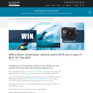 Win A Nikon Underwater Camera And A Copy Of Best of the Best