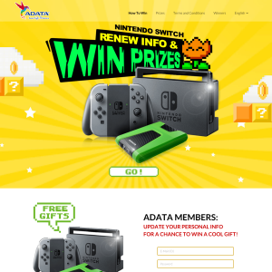 Win a Nintendo Switch + MORE!