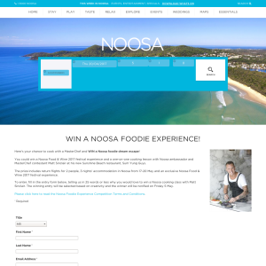 Win a Noosa foodie experience!