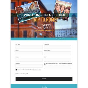 Win a Once In A Lifetime Trip to Rome